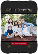Casual Christmas Ornate Christmas Flat Cards - Front