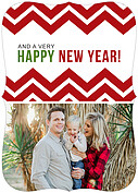 Chevron Christmas Ornate - Back