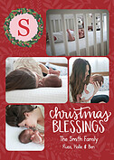 Christmas Blessings Red Christmas Flat Cards - Front