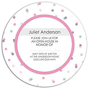 Confetti Cool Circle Graduation Flat Cards - Back