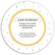 Confetti Neutral Circle Graduation Flat Cards - Back