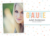 Confetti Warm Graduation Flat Cards - Front