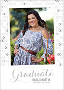 Float On Gray Graduation Flat Cards - Front