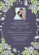 Floral Wreath Invitation Purple Wedding Invites Flat Cards - Front