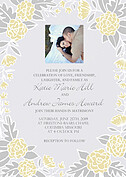 Floral Wreath Invitation Yellow Wedding Invites Flat Cards - Front
