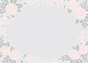 Floral Wreath Date Pink Save the Date Flat Cards - Back