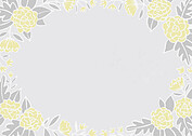 Floral Wreath Date Yellow Save the Date Flat Cards - Back