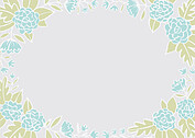 Floral Wreath Date Aqua Save the Date Flat Cards - Back