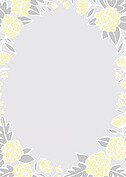 Floral Wreath Thanks Yellow Thank You Cards - Back