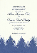 Forest Landscape Invitation Navy Wedding Invites Flat Cards - Front