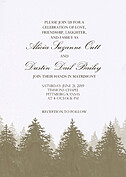 Forest Landscape Invitation Neutral Wedding Invites Flat Cards - Front