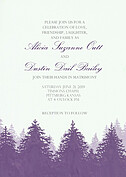 Forest Landscape Invitation Purple - Front