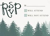 Forest Landscape RSVP Green RSVP Flat Cards - Front