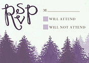 Forest Landscape RSVP Purple - Front