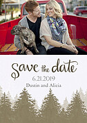 Forest Landscape Date Neutral Save the Date Flat Cards - Front