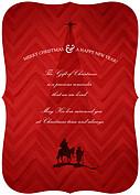 Gift of Christmas Ornate Christmas Flat Cards - Back