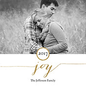 Glittering Joy Square Christmas Flat Cards - Front
