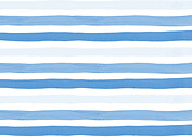 Hello Stripes Blue Birth Announcements Flat Cards - Back