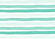 Hello Stripes Teal Birth Announcements Flat Cards - Back