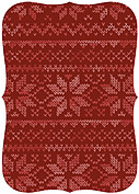 Holiday Sweater Red Ornate Christmas Flat Cards - Back