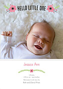 Little One Pink Birth Announcements Flat Cards - Front