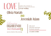Love Celebration Wedding Invites Flat Cards - Front
