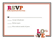 Lovely Union RSVP Flat Cards - Front