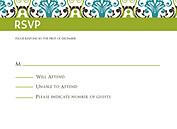 Noveau Pattern RSVP Flat Cards - Front