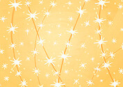 Twinkle Lights Gold Christmas Flat Cards - Back