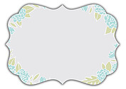 Floral Wreath Date Aqua Ornate Save the Date Flat Cards - Back