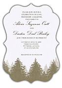 Forest Landscape Invitation Neutral Ornate Wedding Invites Flat Cards - Front