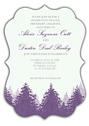 Forest Landscape Invitation Purple Ornate - Front