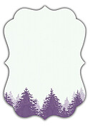 Forest Landscape Date Purple Ornate - Back