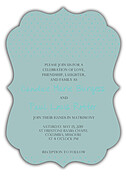 Swiss Dot Invitation Aqua Ornate - Front