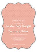 Swiss Dot Invitation Coral Ornate - Front