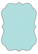 Swiss Dot Date Aqua Ornate Save the Date Flat Cards - Back