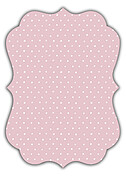 Swiss Dot Date Pink Ornate Save the Date Flat Cards - Back