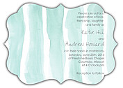 Watercolor Invitation Aqua Ornate Wedding Invites Flat Cards - Front