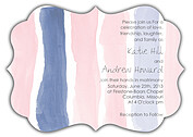 Watercolor Invitation Pink Ornate Wedding Invites Flat Cards - Front