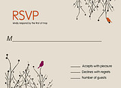 Poised Perfection RSVP Flat Cards - Front