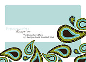 Precious Paisley Reception Flat Cards - Front