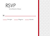 Scalloped Pattern RSVP Flat Cards - Front