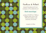 Sea of Dots Wedding Invites Flat Cards - Front