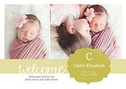 Seal of Approval Gold Birth Announcements Flat Cards - Front