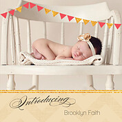 Shimmer Banner Coral Square Birth Announcements Flat Cards - Front