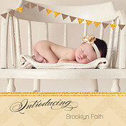 Shimmer Banner Dark Khaki Square Birth Announcements Flat Cards - Front