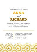 Sunburst Layers Wedding Invites Flat Cards - Front
