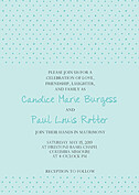 Swiss Dot Invitation Aqua Wedding Invites Flat Cards - Front