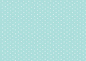 Swiss Dot RSVP Aqua - Back