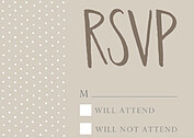 Swiss Dot RSVP Neutral RSVP Flat Cards - Front